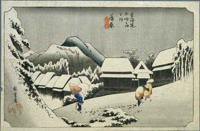 Hiroshige_nuit_de_neige_à_Kambara